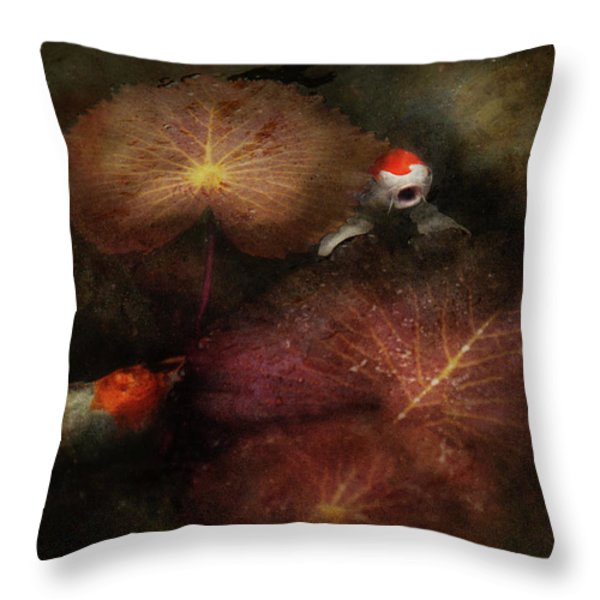 Animal - Fish - I will grant your wishes three Throw Pillow by Mike Savad