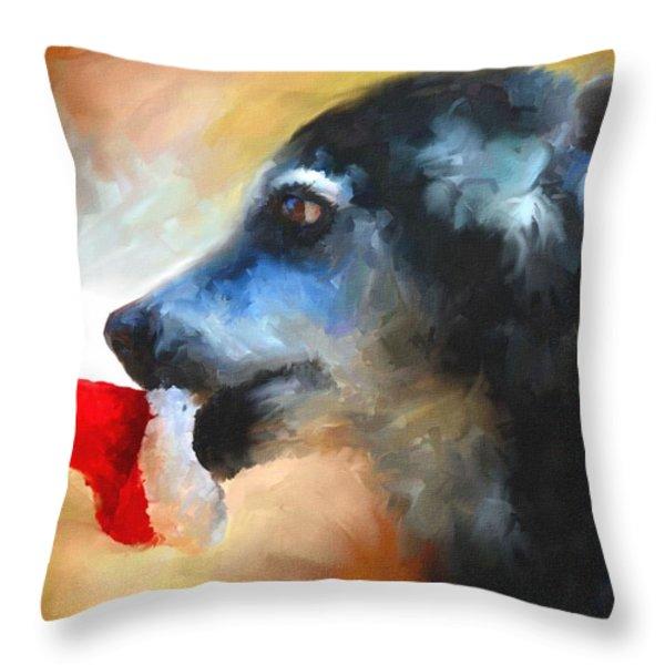 Anticipating Christmas Throw Pillow by Jai Johnson