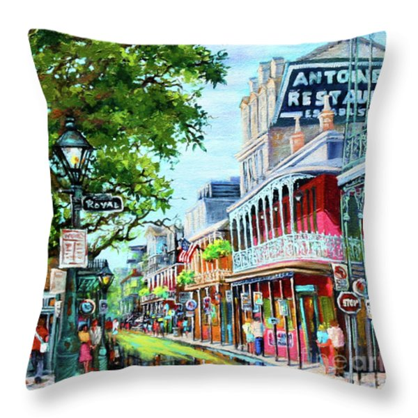 Antoine's Throw Pillow by Dianne Parks
