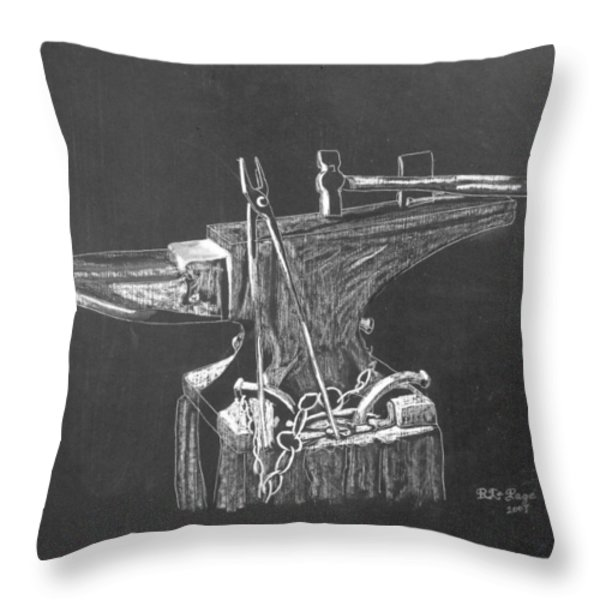 Anvil Throw Pillow by Richard Le Page
