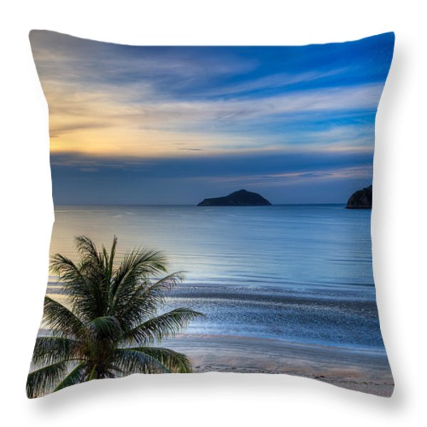 Ao Manao Bay Throw Pillow by Adrian Evans
