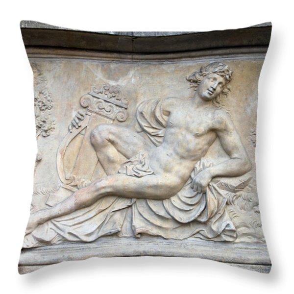 Apollo Relief In Gdansk Throw Pillow by Artur Bogacki
