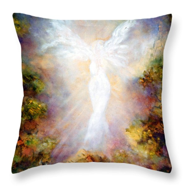 Apparition II Throw Pillow by Marina Petro