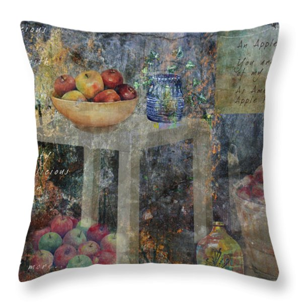 Apple Montage Throw Pillow by Arline Wagner