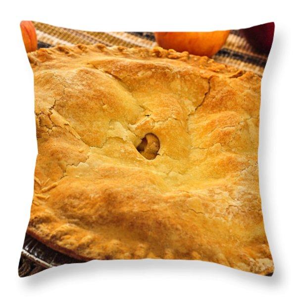 Apple Pie Throw Pillow by Elena Elisseeva