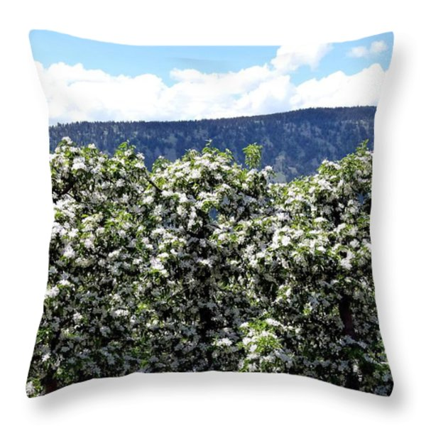 Apple Trees In Bloom     Throw Pillow by Will Borden