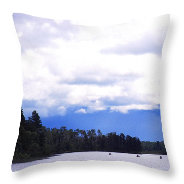 Approaching Storm Throw Pillow by Thomas R Fletcher