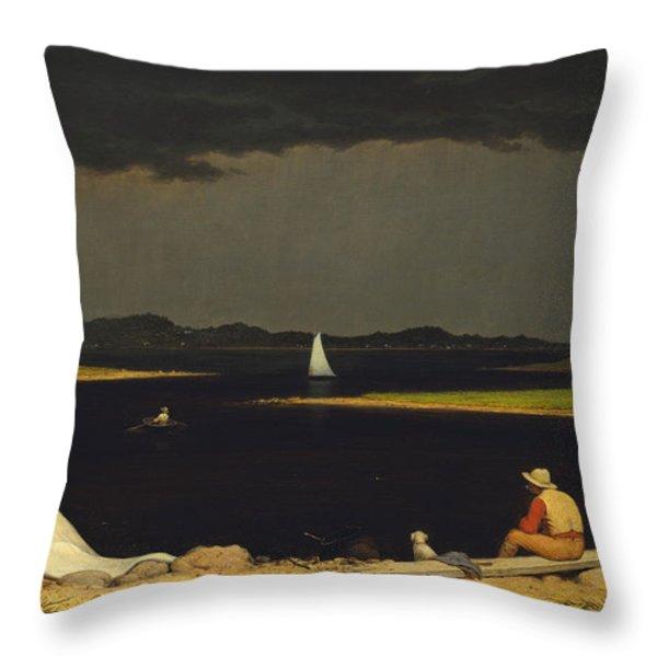 Approaching Thunderstorm Throw Pillow by Martin Heade