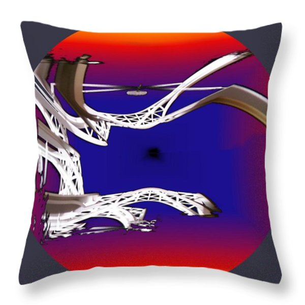 Arches 2 Throw Pillow by Tim Allen