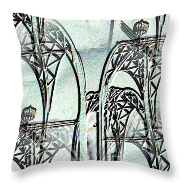 Arches 4 Throw Pillow by Tim Allen