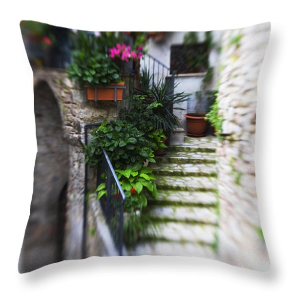 Archway And Stairs Throw Pillow by Marilyn Hunt