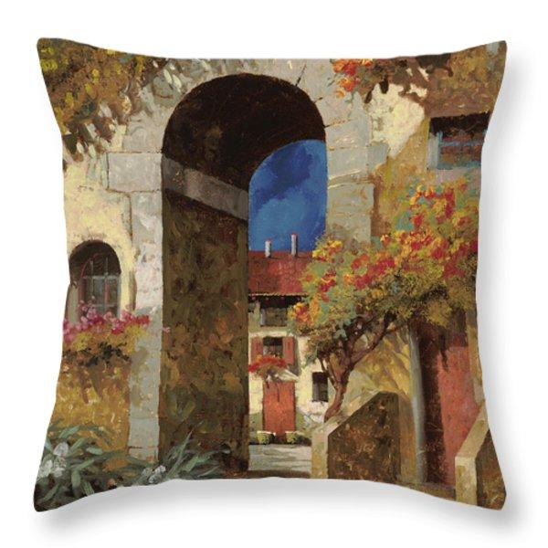 arco al buio Throw Pillow by Guido Borelli