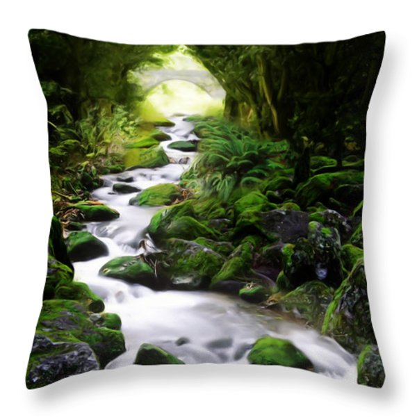 Arden Bridge Throw Pillow by John Edwards