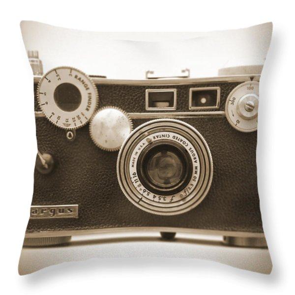 Argus - Brick Throw Pillow by Mike McGlothlen