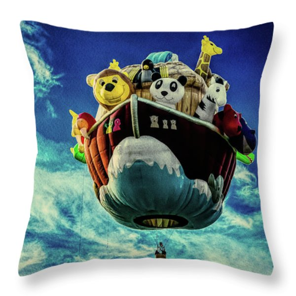 Arky  Noah's Ark Throw Pillow by Bob Orsillo