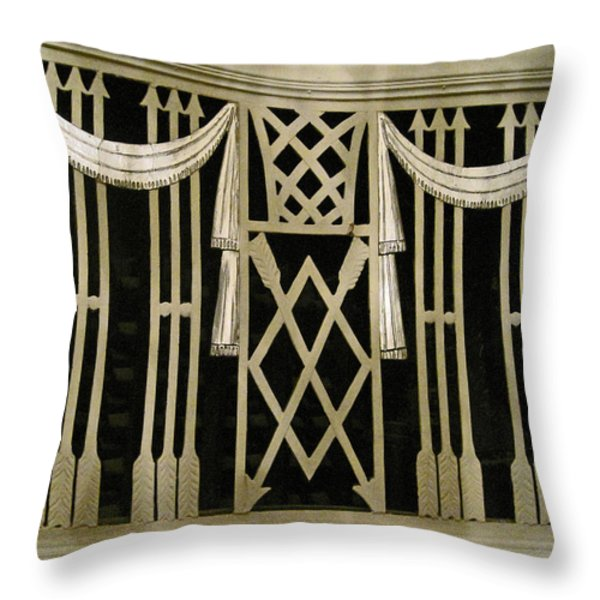 Art Deco Grate 2 Throw Pillow by Michael Durst