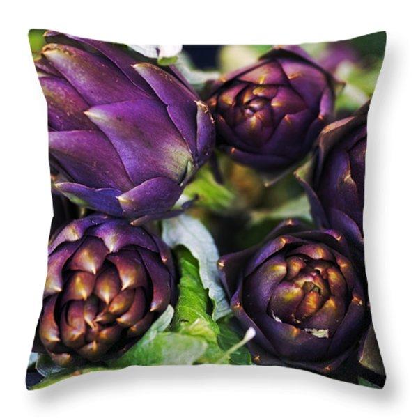 artichokes  Throw Pillow by Joana Kruse