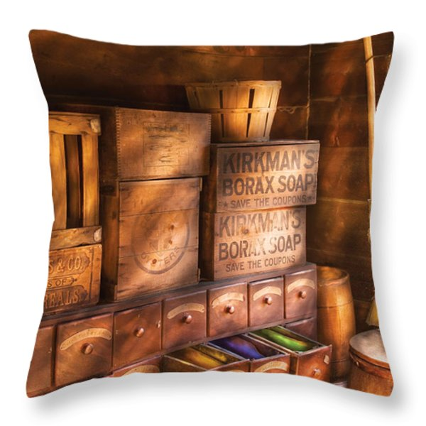 Artist - Assorted  Dyes  Throw Pillow by Mike Savad