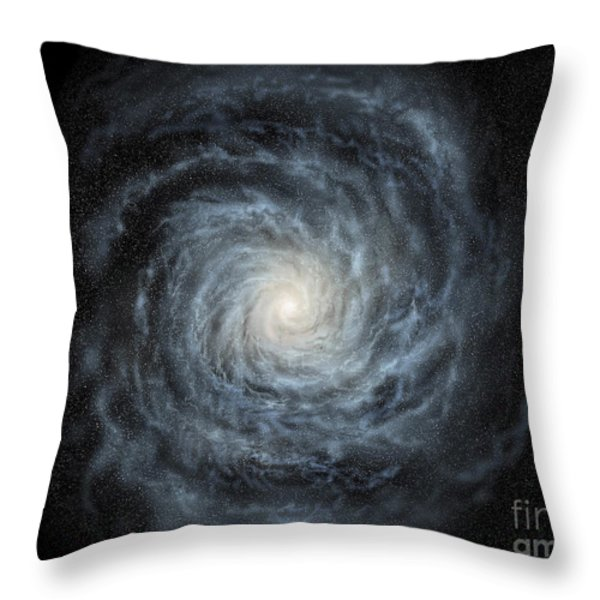 Artists Concept Of A Face-on View Throw Pillow by Ron Miller