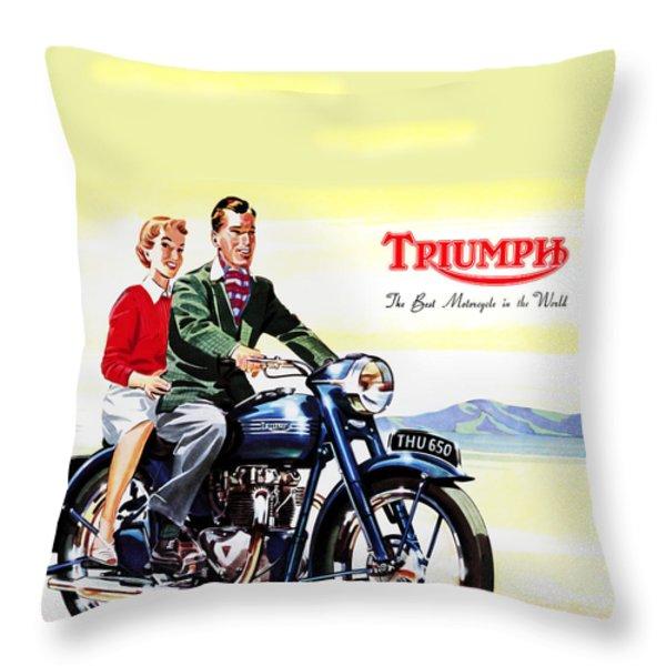Triumph 1953 Throw Pillow by Mark Rogan