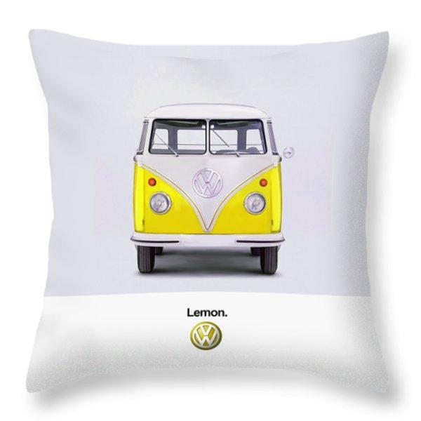 Lemon Throw Pillow by Mark Rogan