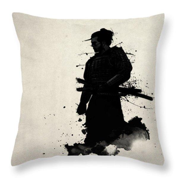 Samurai Throw Pillow by Nicklas Gustafsson
