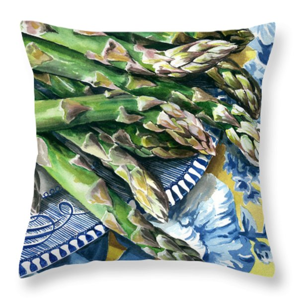 Asparagus Throw Pillow by Nadi Spencer
