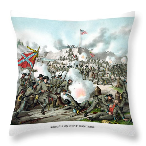 Assault On Fort Sanders Throw Pillow by War Is Hell Store