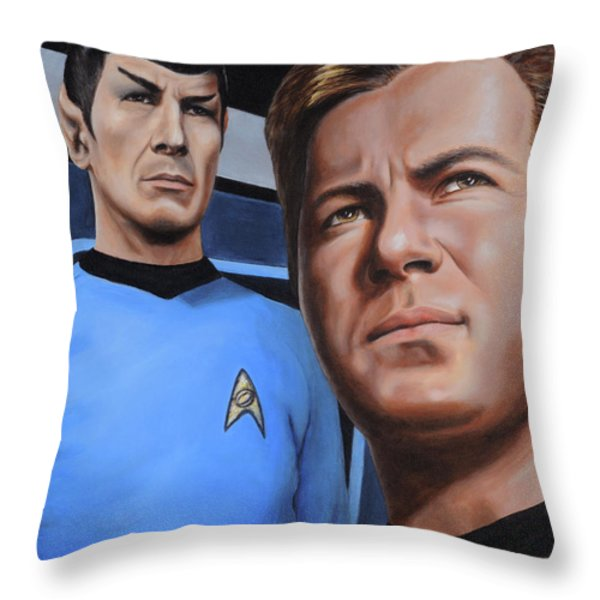 Assessing A Formidable Opponent Throw Pillow by Kim Lockman