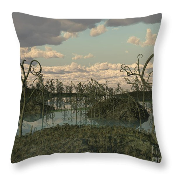 Asteroxylon Was A Primitive Plant That Throw Pillow by Walter Myers