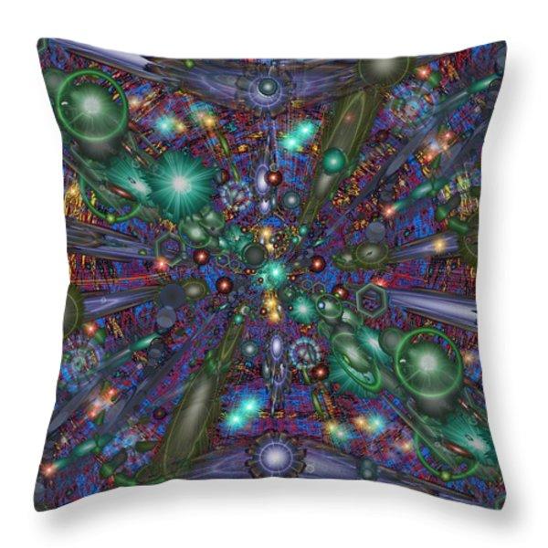 Astral Elixir Throw Pillow by Tim Allen