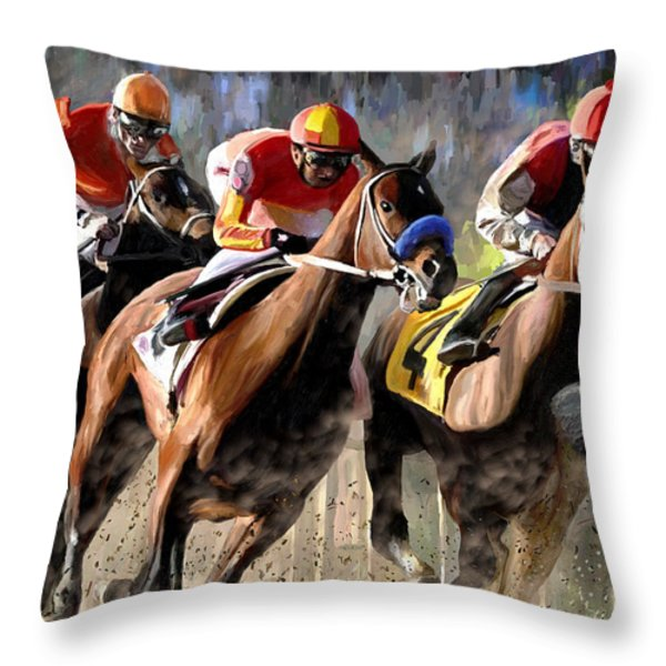 At The Bend Throw Pillow by James Shepherd
