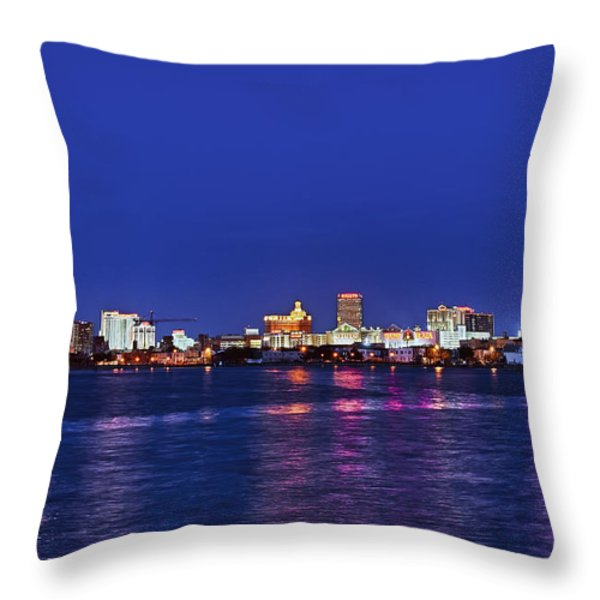 Atlantic City Skyline. Throw Pillow by John Greim