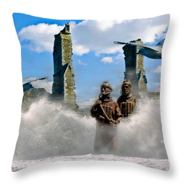 Atlantis Throw Pillow by Brian Roscorla