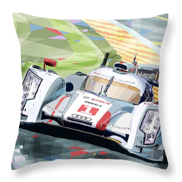 AUDI R18 e-tron quattro Throw Pillow by Yuriy  Shevchuk