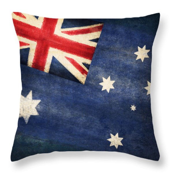 Australia  flag Throw Pillow by Setsiri Silapasuwanchai