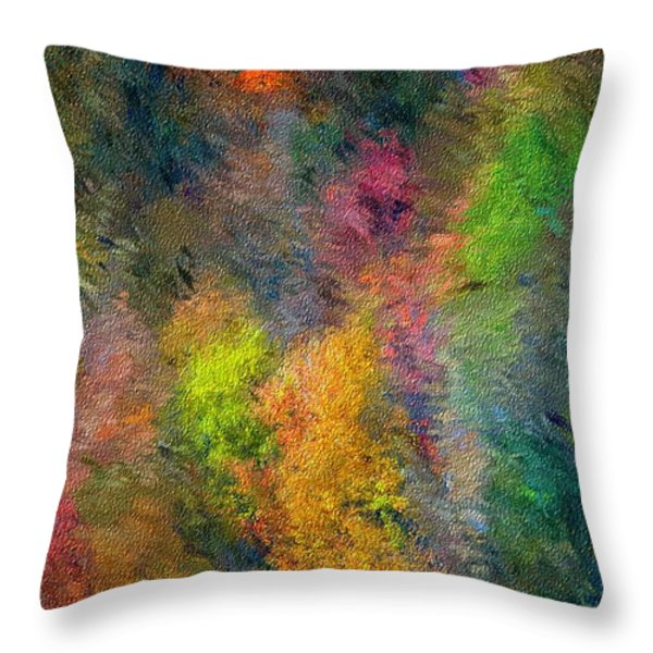 Autum Hillside Throw Pillow by David Lane