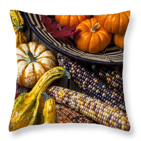 Autumn Abundance Throw Pillow by Garry Gay