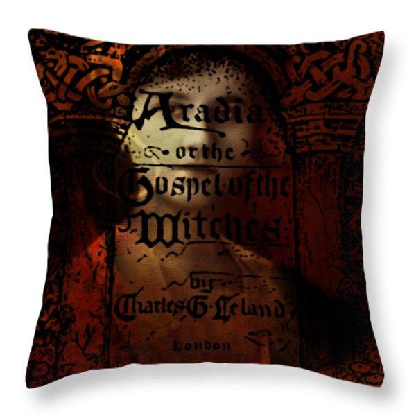 Autumn Aradia Witches Gospel Throw Pillow by Rebecca Sherman