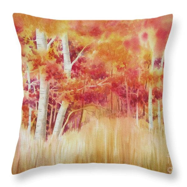 Autumn Blaze Throw Pillow by Deborah Ronglien