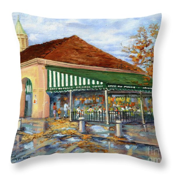 Autumn Coffee Throw Pillow by Dianne Parks
