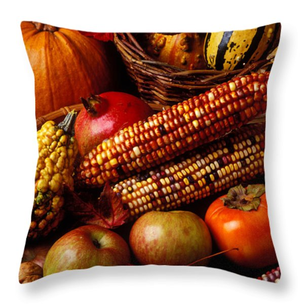 Autumn harvest  Throw Pillow by Garry Gay