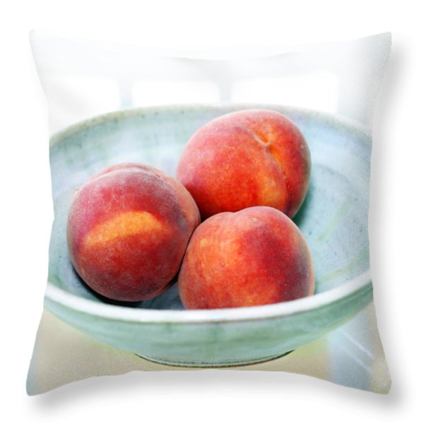 Autumn Peaches Throw Pillow by Marilyn Hunt