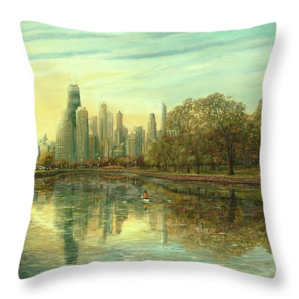 Autumn Serenity Throw Pillow by Doug Kreuger