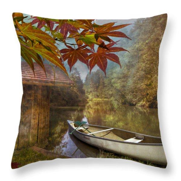Autumn Souvenirs Throw Pillow by Debra and Dave Vanderlaan