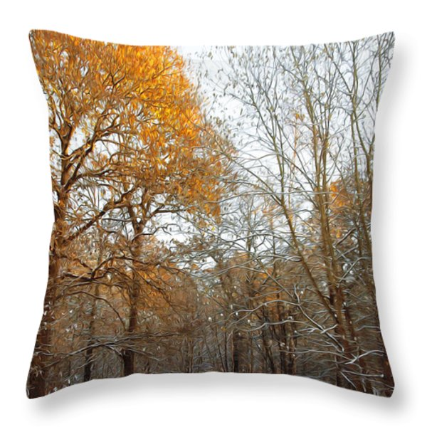 Autumn Tree Throw Pillow by Svetlana Sewell