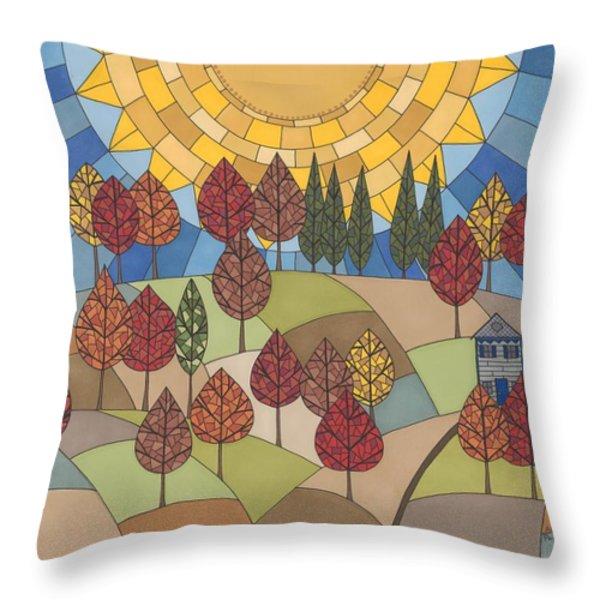 Autumn's Tapestry Throw Pillow by Pamela Schiermeyer