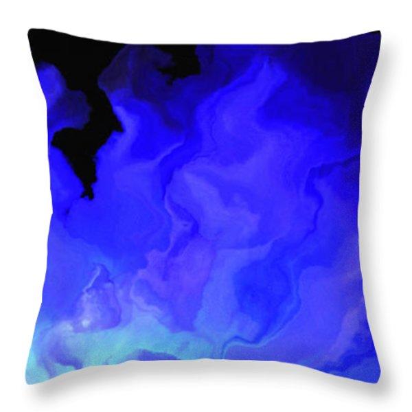 Awake My Soul - Abstract Art Throw Pillow by Jaison Cianelli