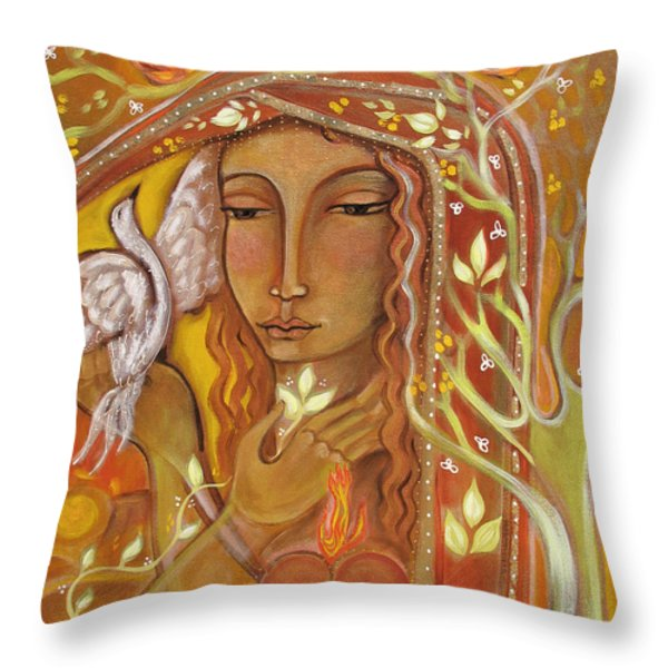 Awakening Throw Pillow by Shiloh Sophia McCloud