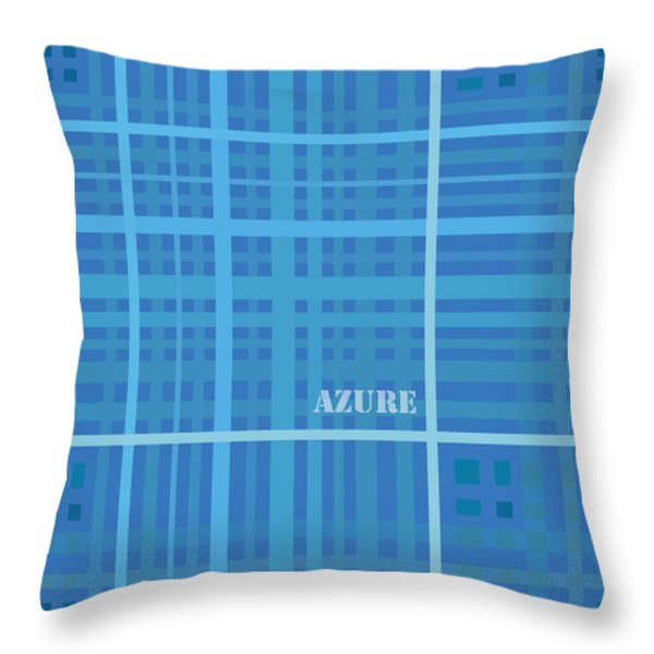 Azure Blue Abstract Throw Pillow by Frank Tschakert